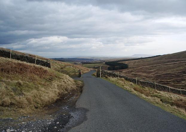Cattle grid on the Bentham to Slaidburn road