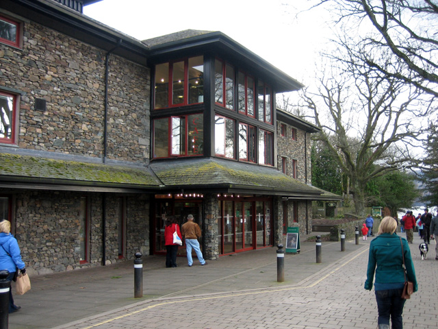 Theatre by the Lake and road down to the lake side, Keswick