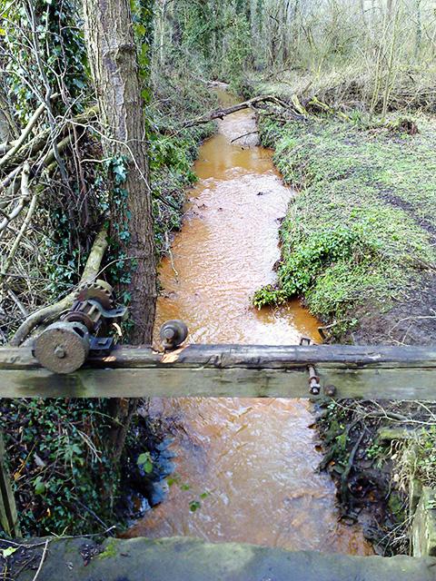 Broughton Brook Runs Orange