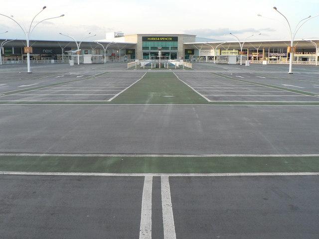 Strouden: empty car park at Castlepoint