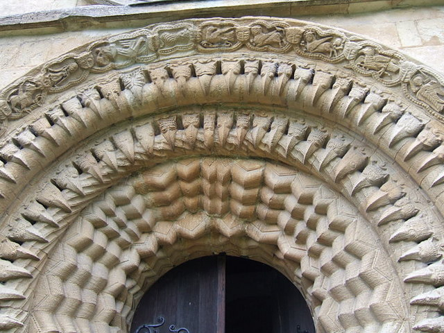 Romanesque carving, Iffley church