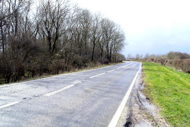 The A153, near Cadwell