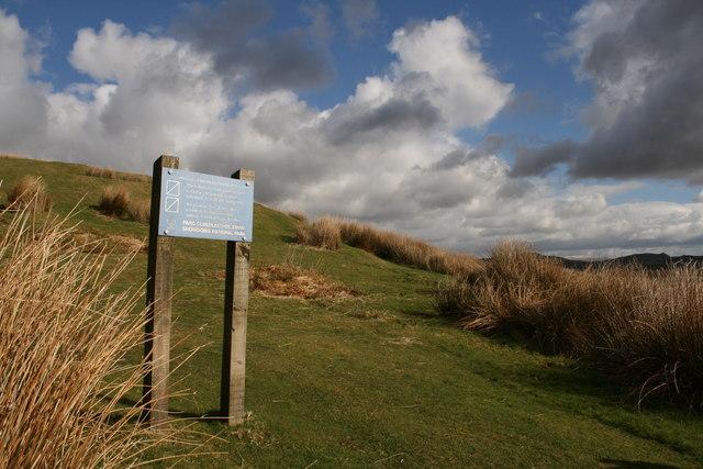 Snowdonia National Park sign at Mynydd Maentwrog