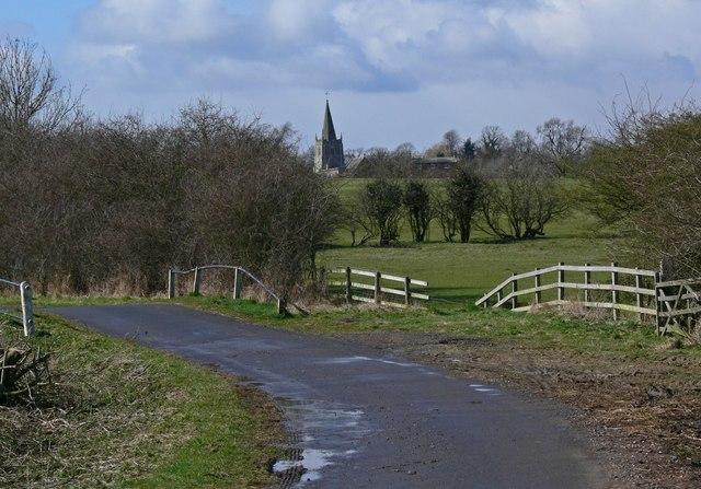 Arnesby Lane towards Peatling Magna