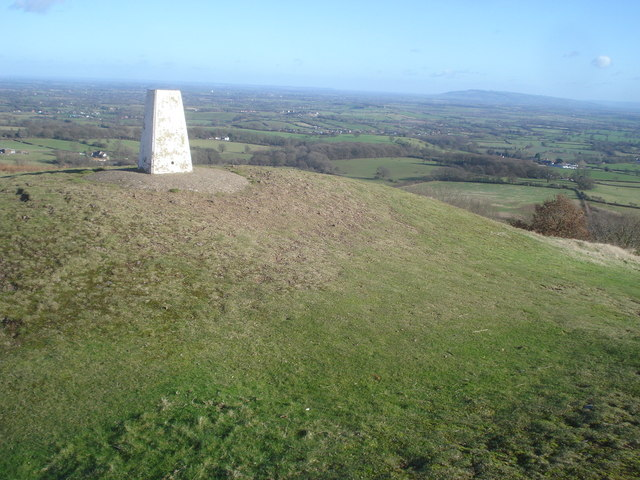 Trig point on Chase End Hill