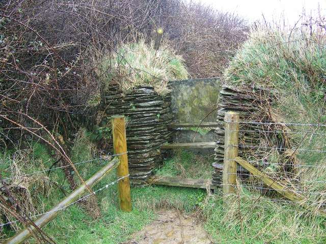 Slate stile near West Down