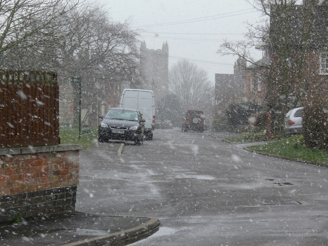 Snow storm in Arnesby