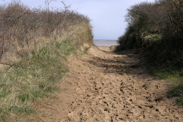 Path through Theddlethorpe Dunes to the sea