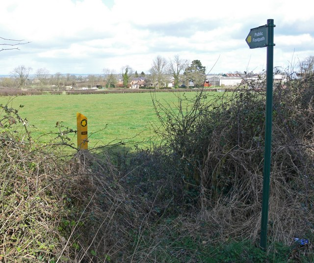 Public Footpath on Fleckney Road