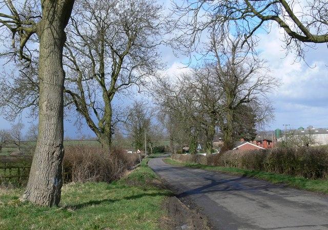 Arnesby Road towards Fleckney