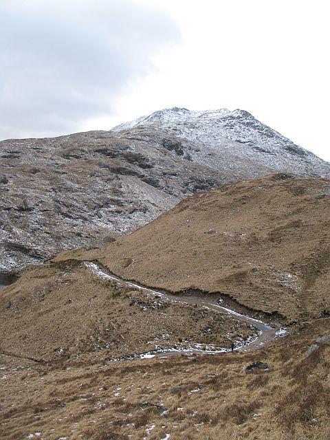 Bulldozed road, Airigh nan Lochan