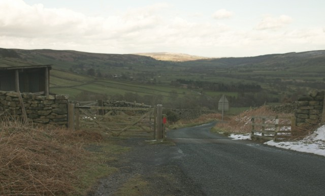 View of Glaisdale from the cattle grid