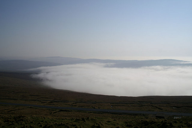 Mist in Burra Firth, from Saxa Vord