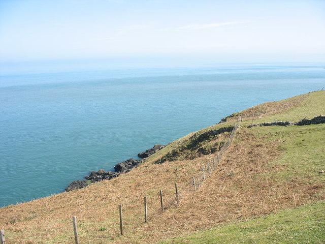 View south across the Penrhyn Glas headland