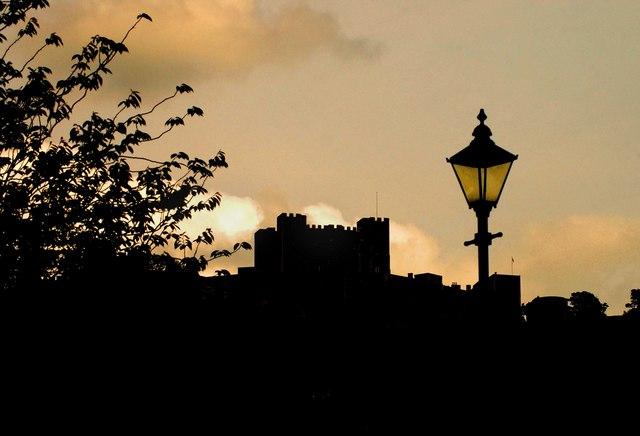 Silhouette of Dover Castle