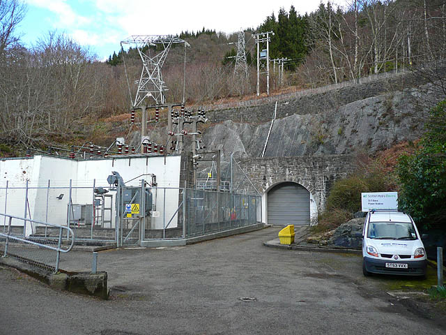 Entrance to St Fillans hydro electric power station