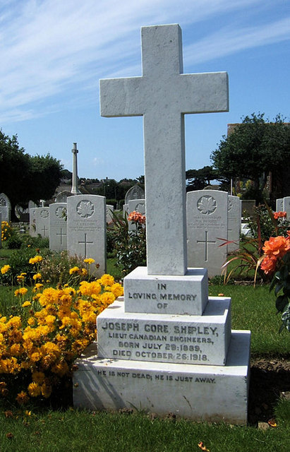 Canadian War Graves, Seaford Cemetery, East Sussex