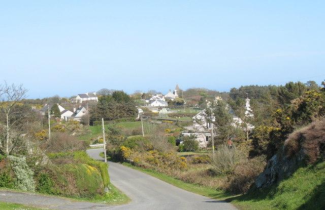 View back along the Llaneilian road