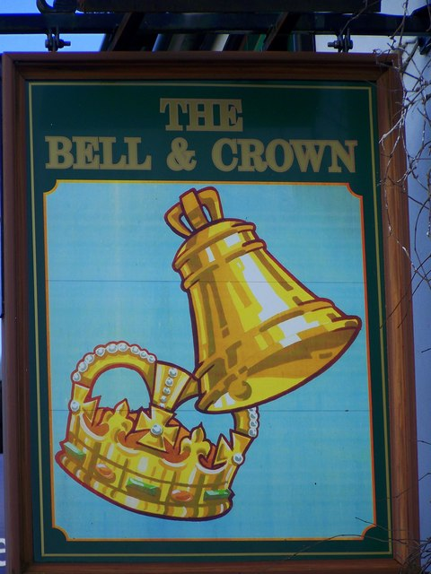 Sign for the Bell and Crown, Zeals