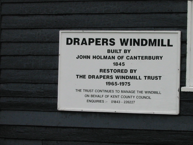 Sign for Drapers Mill