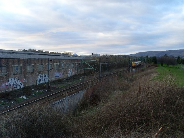 Railway lines beside John Brown's football pitches