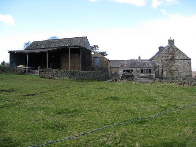 Footpath View - Farm Buildings at Lea