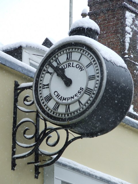 Thurlow Champness & sons clock
