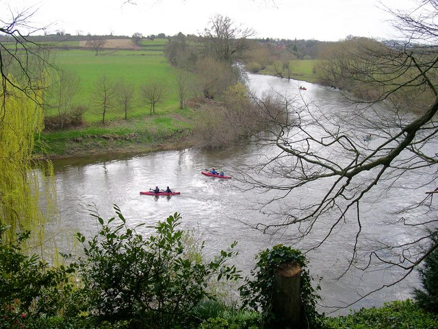 Canoes on the Wye, at The Weir