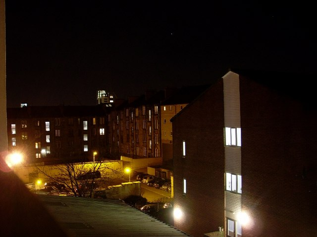 Balcony view behind flats in Patrick