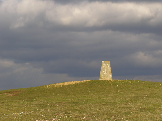 Triangulation pillar near Danebury hillfort