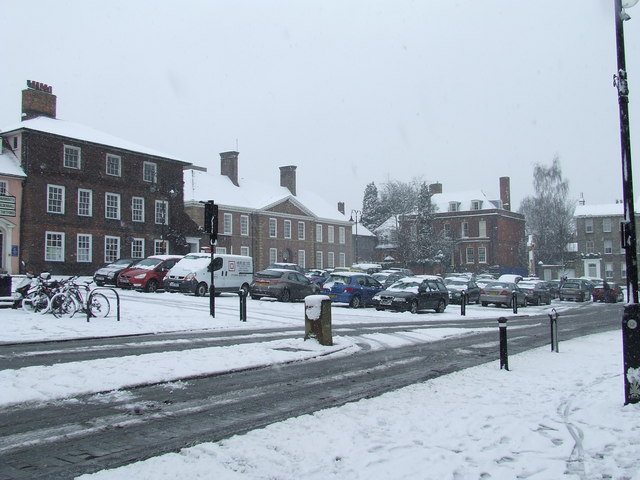 Angel Hill in the snow