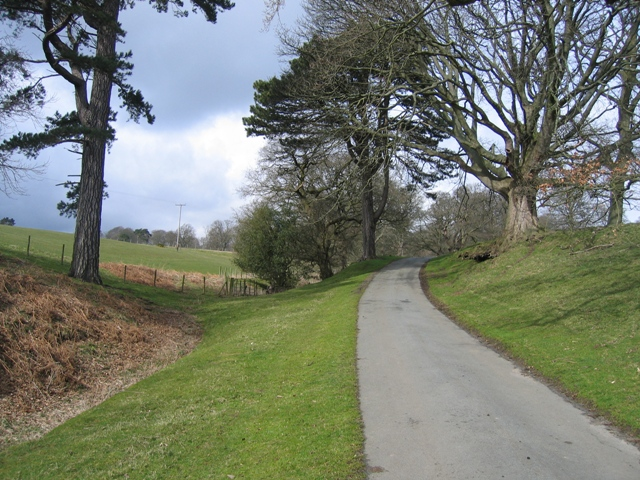 The main drive to Gwysaney Hall