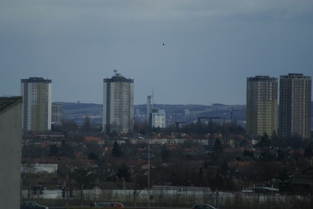South-east view across Clydebank and the West of Glasgow