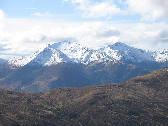 Beinn a' Bheithir from the Mamores