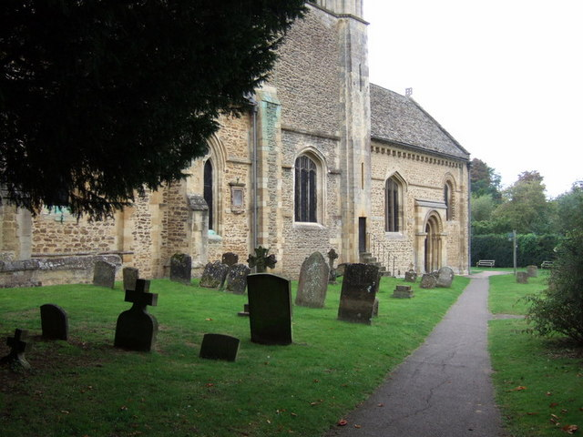 Iffley church, north side