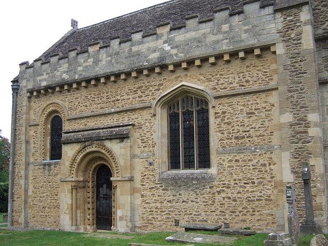 Iffley church, south door