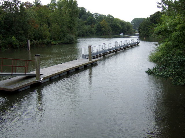 Downstream from Iffley lock