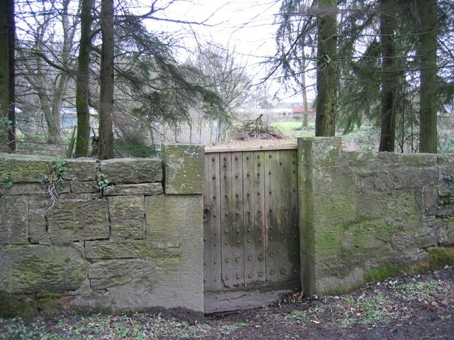 Old gate at Gwysaney