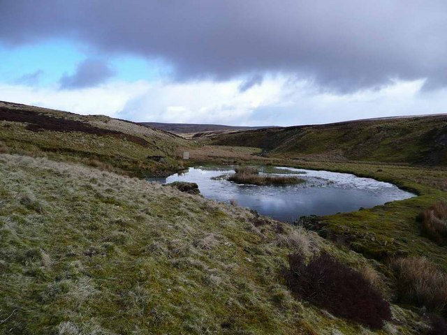Pool by the track up the Dippal Burn