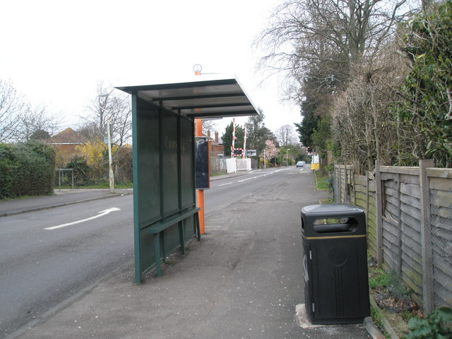 Bus shelter opposite Warblington School