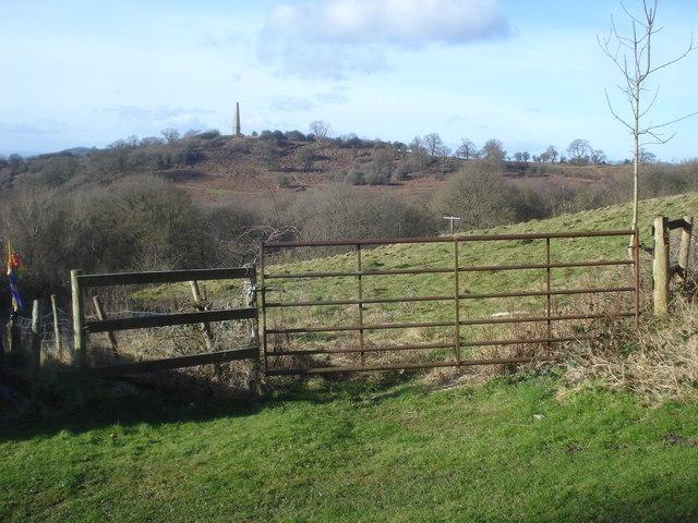 Somers Obelisk from Midsummer Hillside