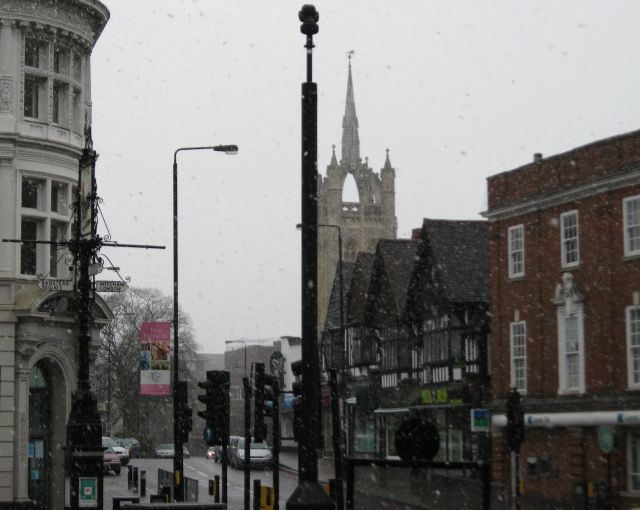 Sutton on a snowy Easter morning