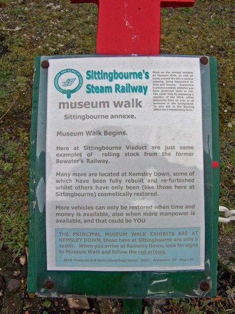 Sign  - SKLR museum walk