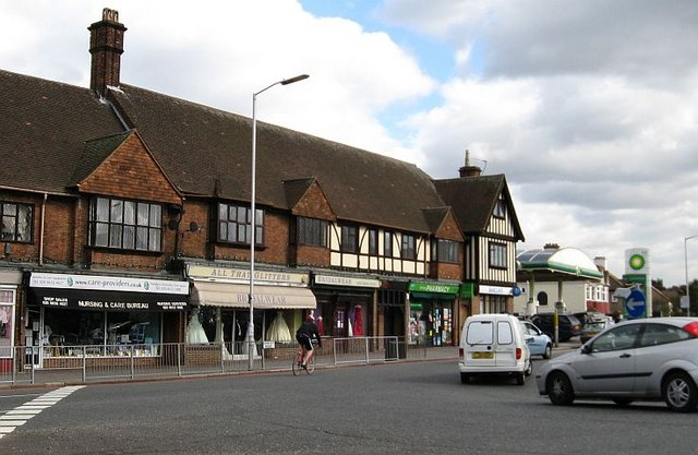Shops opposite Trinity School, Shirley Park