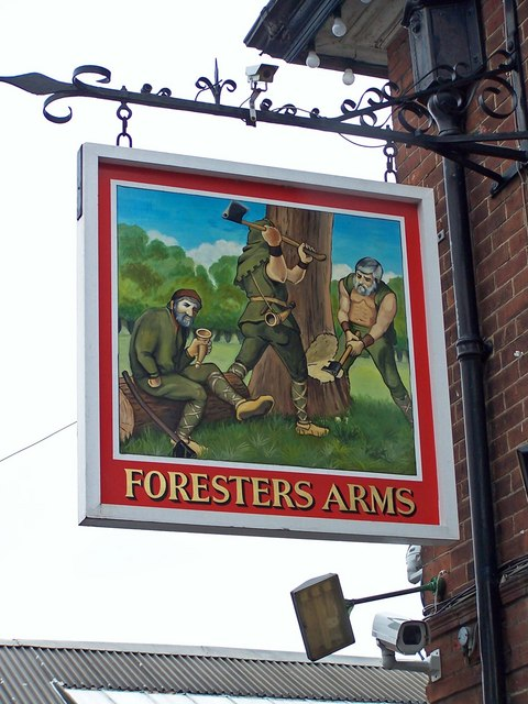 Foresters Arms pub sign