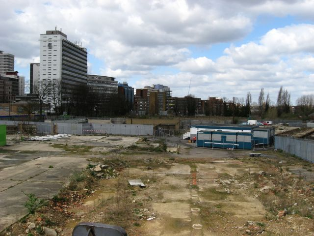 Waste ground near East Croydon Station