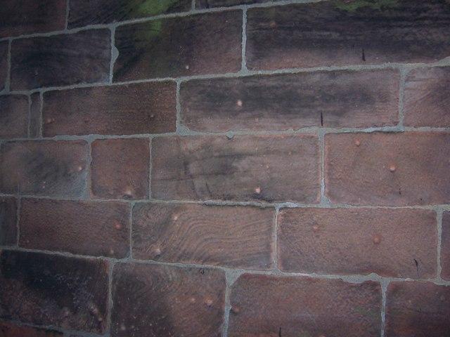 Musket Ball marks on St Luke's Church, Holmes Chapel