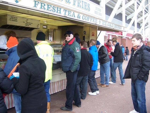 Burger Bar at Britannia Stadium, Stoke-on-Trent