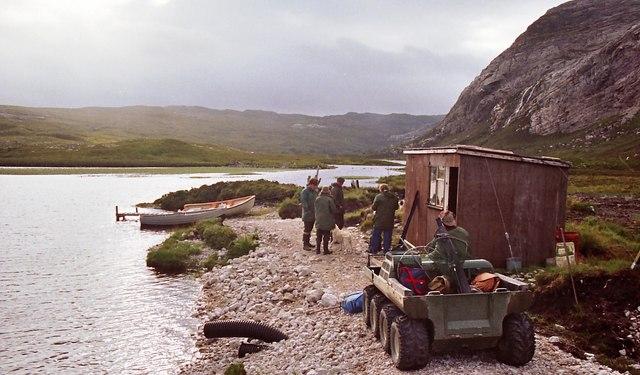 The fishing bothy on Loch Dionard