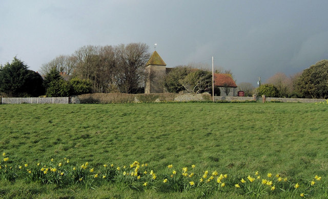 Church and Village Green, Tarring Neville, East Sussex